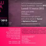 Invito per Operatori Vendemmia Taurasi - Edizione 2013