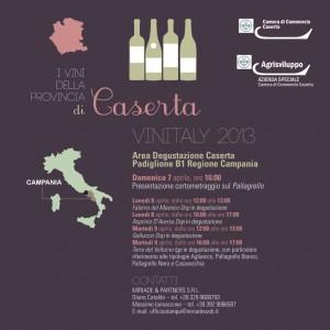 Invito Vinitaly vini di Caserta